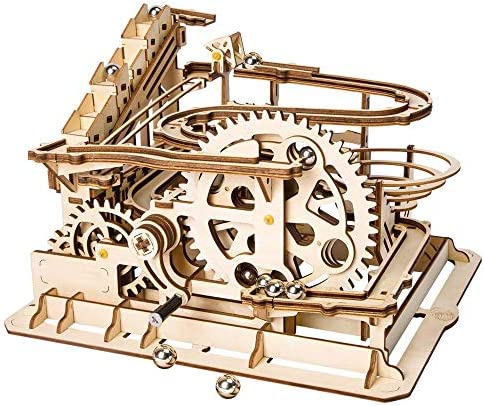 LIANG Roller Coaster Coaster Coaster Puzzle en Bois, 3D Puzzle en Bois Locomotive modèle d'artisanat et Engrenages mécaniques Jouets pour Les garçons et Les Adultes   Design Attrayant  577228