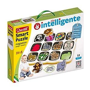 Quercetti 0232 - Puzzle magnético, diseño de Jungla y Savana Importado de Italia