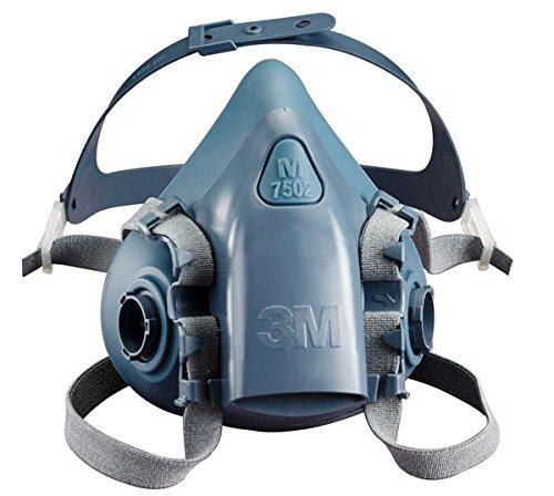 3M Atemschutzmaske 7502, Halbmaske Silikon Wiederverwendbare Maske Größe M