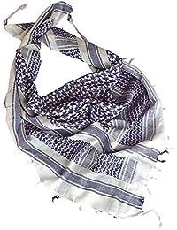 Shemag/Palästinenser-Halstuch Blau/Weiss