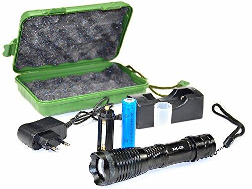 LED-Taschenlampe Super Helle 1000 lumens Cree XML T6 LED Taschenlampe mit Zoom-Funktion Bestseller hohe Lichtleistung King Mungo - KM-S13