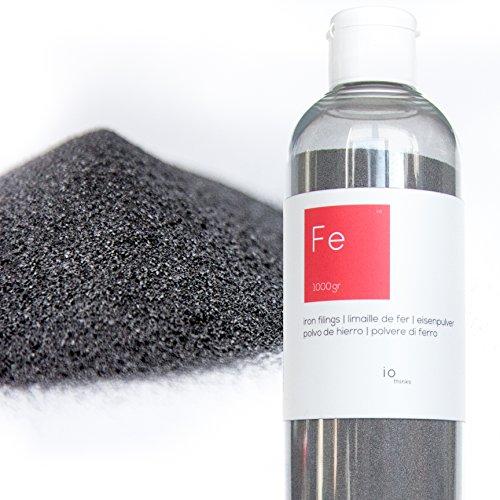 1kg hochwertigem Eisenpulver [Kostenlose Flasche mit Auslauf] - Eisenpulver für die Wissenschaften und Bildung - Erstellen Sie eine Mauer Magnetverschluss aus der Mischen mit der Malerei (1 Flasche Kostenlose)