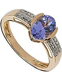 Harry Ivens Damen-Ring Gold Gelbgold 375 (9 Karat) Tansanit AAA Diamant