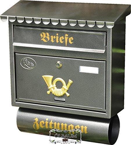 Cassetta delle lettere, qualità premium, zincato, verniciato a polvere si argento acciaio inossidabile look con catalogo fessura e giornali