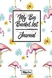 My Big Bucket List Journal: Flamingo Cover | Record Your 100 Bucket List Ideas, Goals, Dreams & Deadlines in One Handy Journal Notebook (bucket list goals organier)