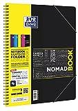 Oxford 400019524studiare Organiser ricambio;–Block notes A4+ con elastico, a quadretti, 80fogli, coperchio in PP, microperforazione; 4fori, Colori Assortiti, 1 Pezzo