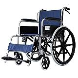 SXRNN Leichter Aluminium-Rollstuhl für Rollstuhl mit Bremsen und Pedalen