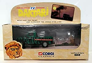 Corgi Classic Daktari Land Rover With Judy The Chimp And Clarence The Cross-Eyed Lion By Corgi IN 1998