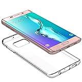 Roar Galaxy S6 Edge Handy Silikonhülle, Clear Cover Schutzhülle, Transparent, 0.8mm Ultra Slim TPU Silikon Case für Samsung Galaxy S6 Edge (G925F)