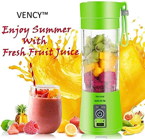 Zircon Galaxy Plastic Portable USB Electric Blender Juice Cup (Multicolour)