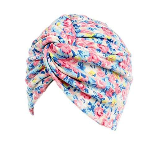 Ouneed Turban Chimio Femme Bonnet Musulmanes Coton Wrap Hijib Cap a Motifs (B)