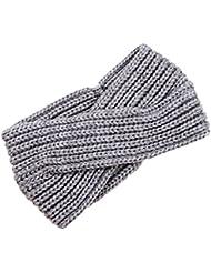 Butterme Twisted Knotted Crochet Strick Stirnband Damen Frauen Turban Kopftuch Bandanas Kopfband Haarband Ear Warmer Haarband