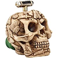 Yardwe Grifo de Agua Vintage en Forma de Cráneo Decoración para Casa