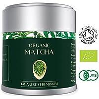 Té Verde Matcha - Orgánico 30g | Premio Ceremonial Japonés | Bio Orgánico certificado por JAS Japan & EU Organic | El mejor té verde de la calidad escogido en Kyoto | Aprobado por Tea Masters | Mejor para la pérdida de peso, Vegan Friendly & Healthy Living | Por Heapwell Superfoods (Lot 583)
