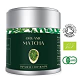 Té Verde Matcha - Orgánico 30g | Premio Ceremonial Japonés | Bio Orgánico certificado por JAS Japan & EU Organic | El mejor té verde de la calidad escogido en Kyoto | Aprobado por Tea Masters | Mejor para la pérdida de peso, Vegan Friendly & Healthy Living | Por Heapwell Superfoods