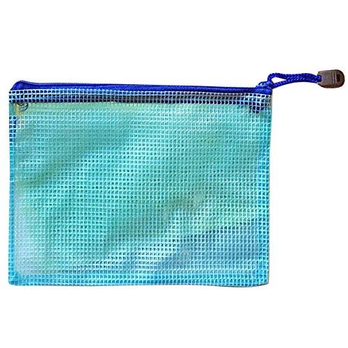 TRIXES Busta azzurra in plastica trasparente e