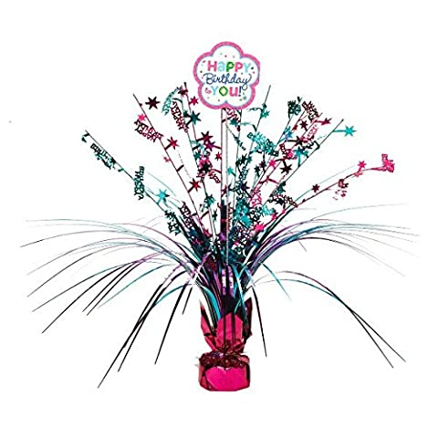 Amscan 110252 Happy Birthday Spray Centrepiece