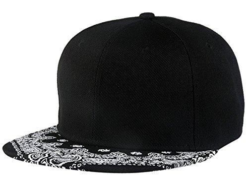 Imagen de aivtalk  negro sombrero de hip hop  de béisbol snapback ajustable moda hat ajustable para hombre mujer