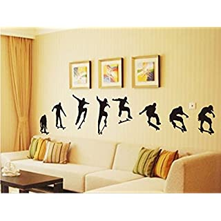 Revesun Creative Sticker Skateboard Rides Wall Stickers For Kids Rooms Wall Decals Kids Adesivos Decorativos Mural Adesivos Decorativos