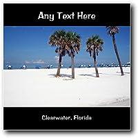 Clearwater, Florida personalizzato quadrato placca