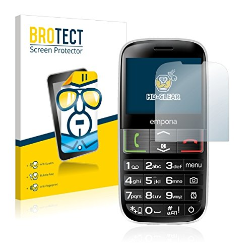 2X BROTECT HD Clear Bildschirmschutz Schutzfolie für Emporia Euphoria V50-3G (Kristallklar, extrem Kratzfest, schmutzabweisend)