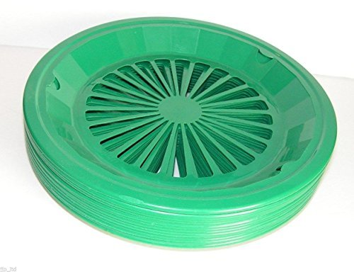 Tropical Green 10-3/8 Plastic Paper Plate Holders Set of 4 by Paper Plate Holder