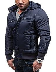 BOLF Herrenjacke Herren Jacke Übergangsjacke Moderne Jacke mit Kapuze T&C COMFORT 7629
