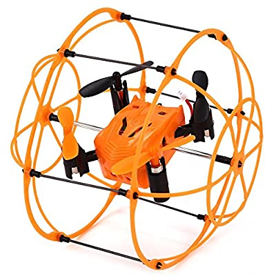 DUCKTOYS 2.4G Hz mini four-axis drone, climbing wall 4-channel six-axis gyroscope with night vision light small remote control aircraft, two-color
