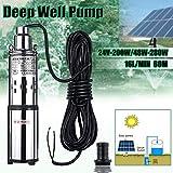 SHIJING Pompa ad Acqua Solare 24 V / 48 V 200 W / 280 W 16 L/Min 60 m Deep Well Pompa sommergibile Pompa di irrigazione Pompa pozzo Profondo per Giardino.2
