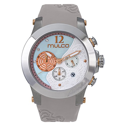 Mulco Women's MW3-16061-111 Windrock Beige Silicone Strap Watch