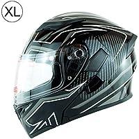 StageOnline Casco de Motocross para Todoterreno - K5 Casco de Moto Casco de  Cara Completa Lente 5f178c9e4fc