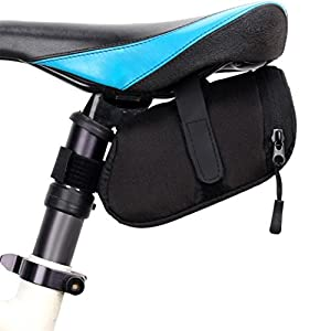 Bolso de la bicicleta que completa un ciclo la bolsa impermeable del asiento de la bolsa de sillín del almacenamiento de la bolsa (Negro)