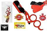 FW-peluquería salón rojo corte recto Garganta–Navaja de Afeitado en húmedo, anillo (Rasoi...