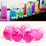 10 Bag 50g Water Aqua Crystal Soil Bio Gel Ball Beads Wedding Vase Bio Hot Pink by Joylive