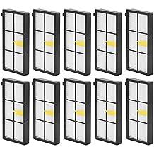 10pcs filtro HEPA para iRobot Roomba 800870880aspiradora de 980, honfa Kit de filtros de repuesto (800Serie, 900Serie) paquete de