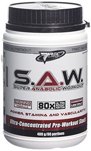 Trec Nutrition S.A.W. Pre-Workout Booster Trainingsbooster Bodybuilding 400g (Cherry Grapefruit - Kirsche Citrusfrüchte)