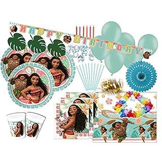 100 Teile Disney Vaiana Party Deko Set für 8 Kinder