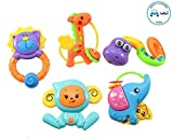 FunBlast™ Rattle Series Jungle Dost Toys, Animal Rattles Toys for Kids, Multicolor
