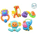 FunBlast Rattle Series Jungle Dost Toys, Animal Rattles Toys for Kids, Multicolor