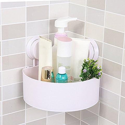 Frashing Saugnapf Badezimmer Küche Eck Speicher Rack Veranstalter Dusche Regal Kunststoff