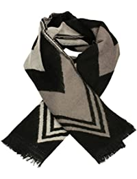 SwankySwans Stunning Scarves - Wave Stripe Print Womens Ladies Large Viscose Thick Winter Warm Scarf Shawl Wrap