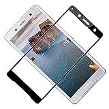 TOIYIOC Panzerglas Schutzfolie für Sony Xperia XZ2, [Vollständige Abdeckung] 0.30mm Ultra-klar Folie Panzerglasfolie, Bildschirmschutzfolie Glas kompatibel Sony Xperia XZ2 [2 Stück]