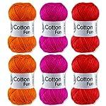 Gründl Cotton Fun Set Rot Mix 6x50 Gramm