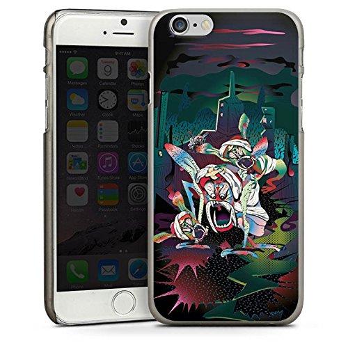 Apple iPhone 5s Housse Étui Protection Coque monstres effrayants Créature légendaire Imagination CasDur anthracite clair