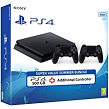 Sony PS4 500GB Slim Console with Additional DS4