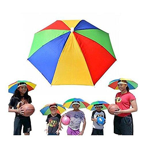 Tragbar Nützliche Regenschirm Hat 50,8cm Durchmesser verstellbar mit Kopfbedeckungen Hände free-sun Schatten Wasserdicht Outdoor für Angeln, Garten, Fotografie, Walking, mehrfarbig