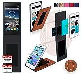 reboon Hülle für Siswoo A4 Chocolate Tasche Cover Case Bumper | Braun Leder | Testsieger
