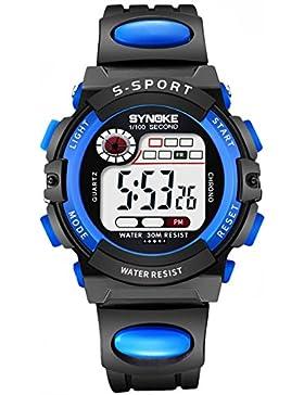 Children 's watch wasserdicht luminous multi - functional sports electronic-E