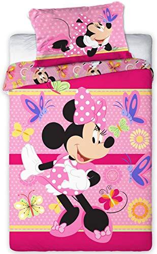 Disney 094 Minnie Maus Baby Bettwäsche Set 100 x 135cm (Bettwäsche Disney Baby-mädchen Set)