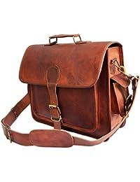 Krish Vintage Leder Laptop Tasche Messenger Handgefertigt Aktentasche Umhängetasche Schultertasche